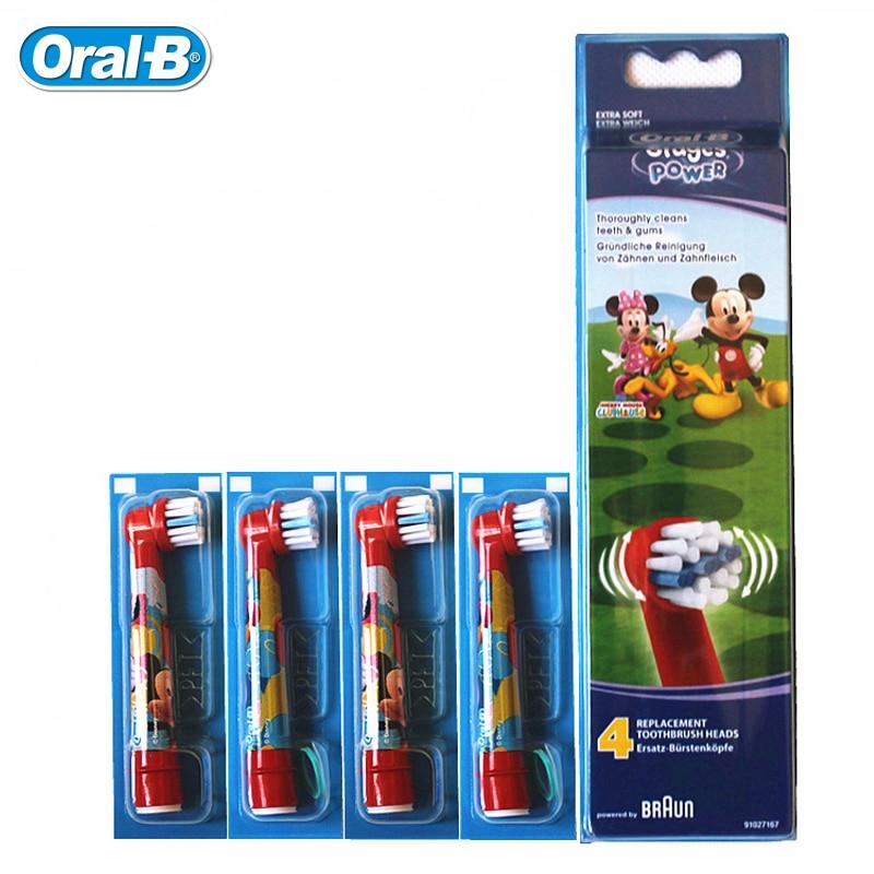 Cepillo de dientes Oral BEB10 reemplazos para niños cepillo de dientes eléctrico D12 D10 DB4510 cerdas suaves 2 cabezas o 4 cabezas