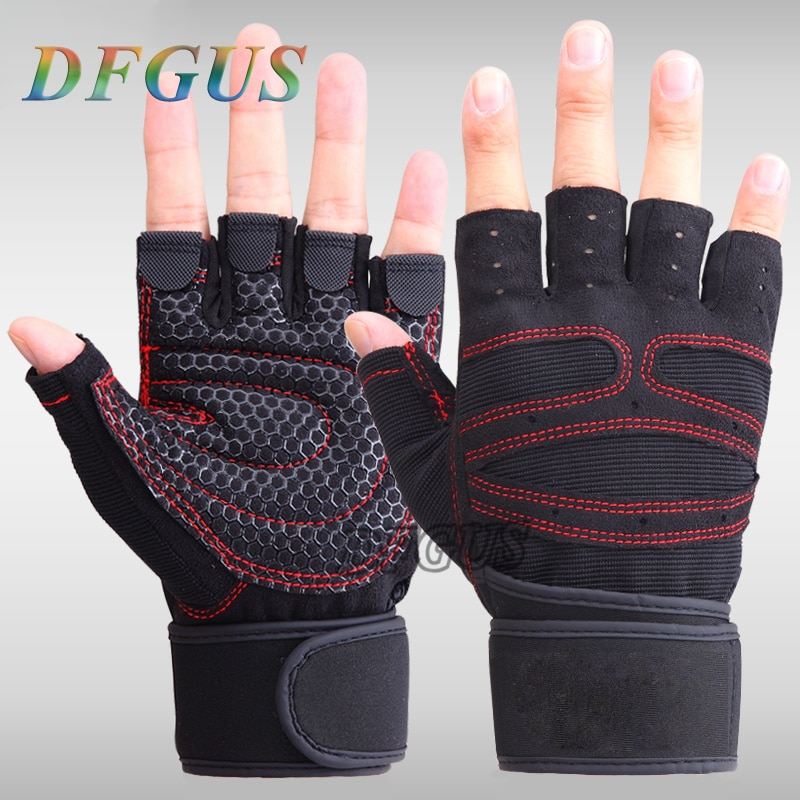 New Fashion Men Gym Gloves Body Building Outdoor Sport Fitness Exercise Training Weight Lifting Women