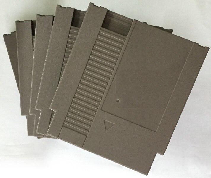 Coque en plastique de remplacement de cartouche de jeu de 72 broches de couleur grise pour la Console de NES