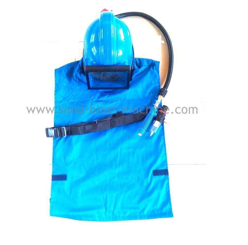 Chorro de arena casco con regulador de temperatura chorro de máscara