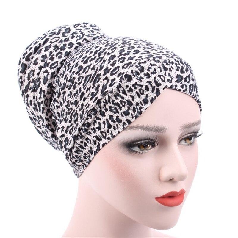 Nouveau léopard imprimé femmes turban chapeaux musulman mode femmes Hijabs coton couverture intérieure Hijab casquette islamique coiffe de tête chapeau sous écharpe