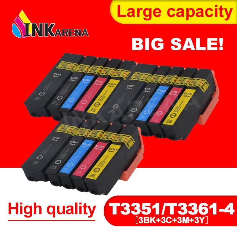 3 حزمة 33 33XL T3351 كامل خراطيش الحبر Compitalbe لإبسون XP 900 830 645 640 635 630 540 530 طابعة خرطوشة الحبر