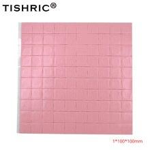 TISHRIC Hot Koop Red GPU CPU Thermische Pads 1mm Koeler Geleidende Siliconen pad Heatsink 100*100*1mm PC Fan Cooling koellichaam