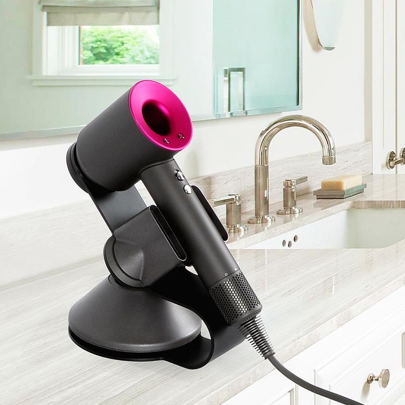 Soporte para secador de pelo, soporte de acero inoxidable para secador de pelo supersónico Dyson, difusor y dos boquillas