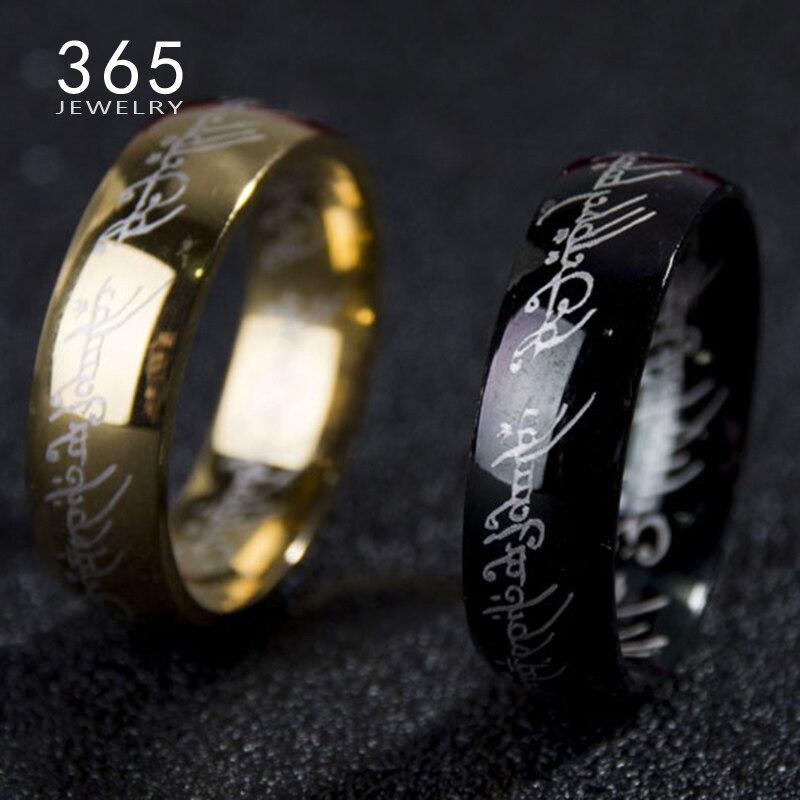 Новое кольцо из титановой нержавеющей стали с волшебной надписью «Властелин одного» для женщин и мужчин, senhor dos aneis, 2017