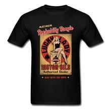 Punk T-shirt Rockabilly Boogie T-shirt hommes femme rétro noir T-shirt 80s Rock Roll Funky Streetwear coton Pin Up fille Sexy hauts
