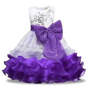 New Style Girls Wedding Princess Gowns Juniors Easter Clothes for Kids Blue Red Hot Pink Purple Birthday Party Dress Child