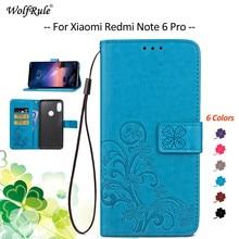 For Cover Xiaomi Redmi Note 6 Pro Case Flip PU Wallet Bumper Pouch Phone Bag Case For Xiaomi Redmi N