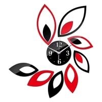 Nouvelle mode bricolage stickers muraux horloge decor a la maison salon acrylique miroir horloges meubles modernes 3d autocollant
