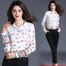 Fashion Women Blouse Shirt For Summer and Autumn Regular Full Sleeve Casual Shirt Blouse Turn-down Collar Woman Blouse