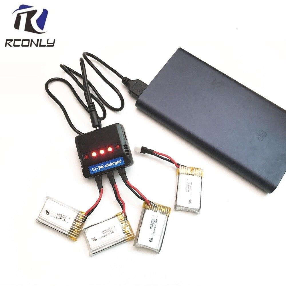 3,7 V 300mAh li-po batería con 5 en 1 juegos de cargador para F777 F17W Hubson H107 Syma X11C H108C U816 WLtoys v966