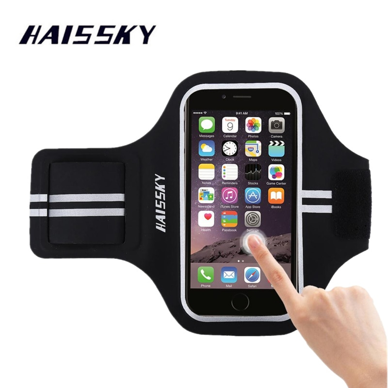 Haissky спортивный чехол для телефона с ручным держателем для мобильного телефона Brassard для iPhone X XS 8 7 6 Samsung S8 S7 спортивные повязки сумка