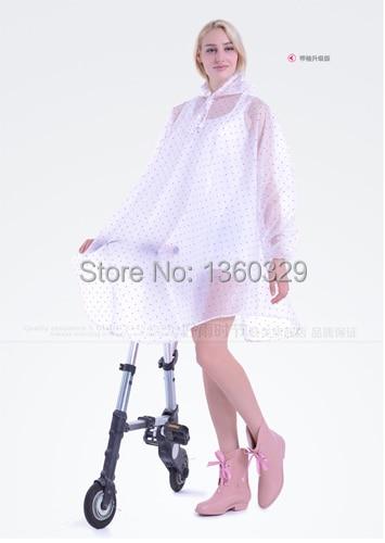 Moda mujer largos impermeables puntos motocicleta Poncho mujeres ropa impermeable Niñas Ropa burbe rry mujeres capa envío gratis