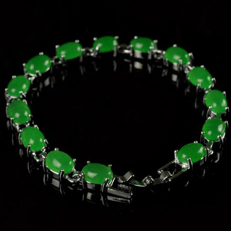KYSZDL livraison gratuite Bracelet incrusté de pierre verte naturelle bijoux de mode bracelets pour femme femme deux types de couleurs en option