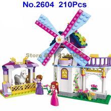 2604 210 قطعة فتاة أصدقاء الأميرة ليا قوس قزح طاحونة مربع تنوير بناء الالعاب العملاقة