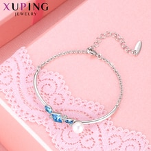 Xuping bijoux rétro tempérament Bracelets cristaux de Swarovski Imitation perle pour les femmes Thanksgiving cadeaux M96-70017
