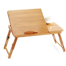 Support dordinateur réglable en bambou bureau dordinateur portable Table dordinateur portable de bureau pour ordinateur portable pour lit canapé lit plateau Table de pique-nique Table détude