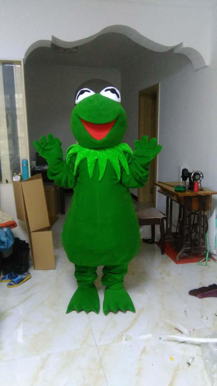 Rana verde Traje de La Mascota trajes de la mascota para adultos de la navidad de Halloween Fancy Dress Suit Envío Gratis cuadro verdadero