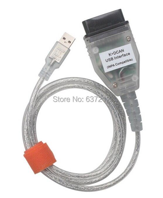 INPA/Ediabas K + DCAN interfaz USB OBD2 OBDII herramienta de diagnóstico del coche Cable para BMW R56 E87 E93 E70