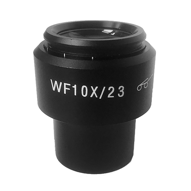 1 pieza WF10X Microscopio de Campo Ancho ajustable lente campo de visión 23mm Tamaño de montaje 30mm con eyecps para microscopio ESTÉREO