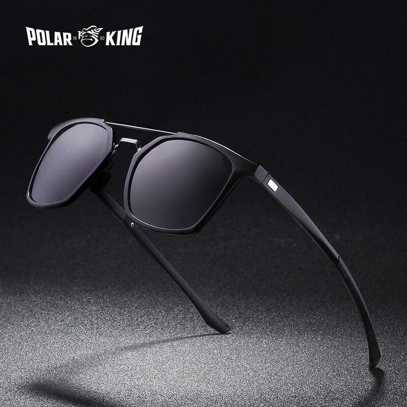 Marca POLARKING, Gafas de sol polarizadas con montura de aluminio a la moda para hombre, Gafas de sol de viaje para hombre, Gafas de conducir para hombre, Gafas