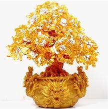 Pierres et cristaux citrine quartz cristal   Bijou, arbre pour argent cadeau de vacances, richesse argent bay