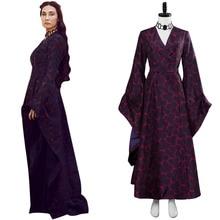 Game of Thrones saison 8 Melisandre rouge hexagone robe robe sombre Cosplay Costume Halloween fête Cosplay Costumes
