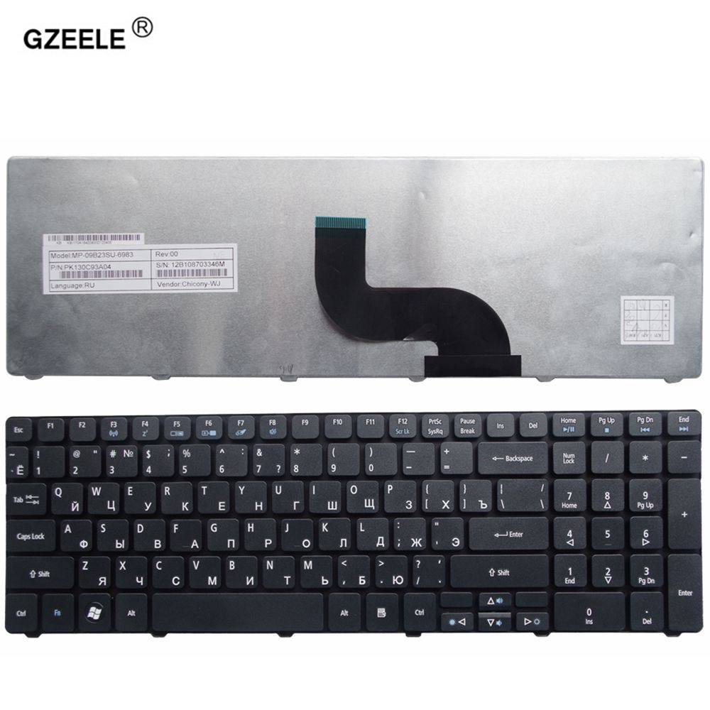 Teclado nuevo para portátil Acer Aspire 5740G 5740Z 5741 5741G 5745G 5745...