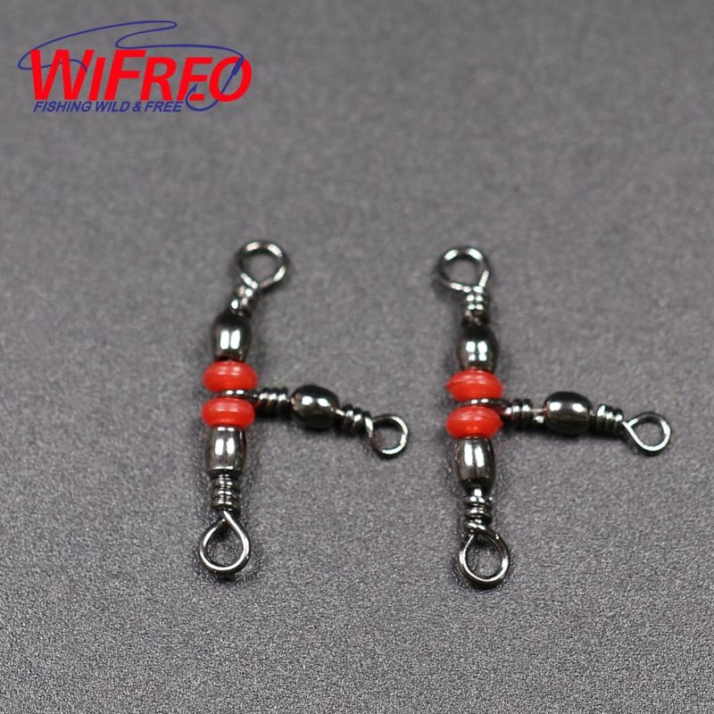 Wifreo 20 unids/lote 3 pesca de latón barril Triple gira teniendo conector anillo sólido pesca Pesca accesorio
