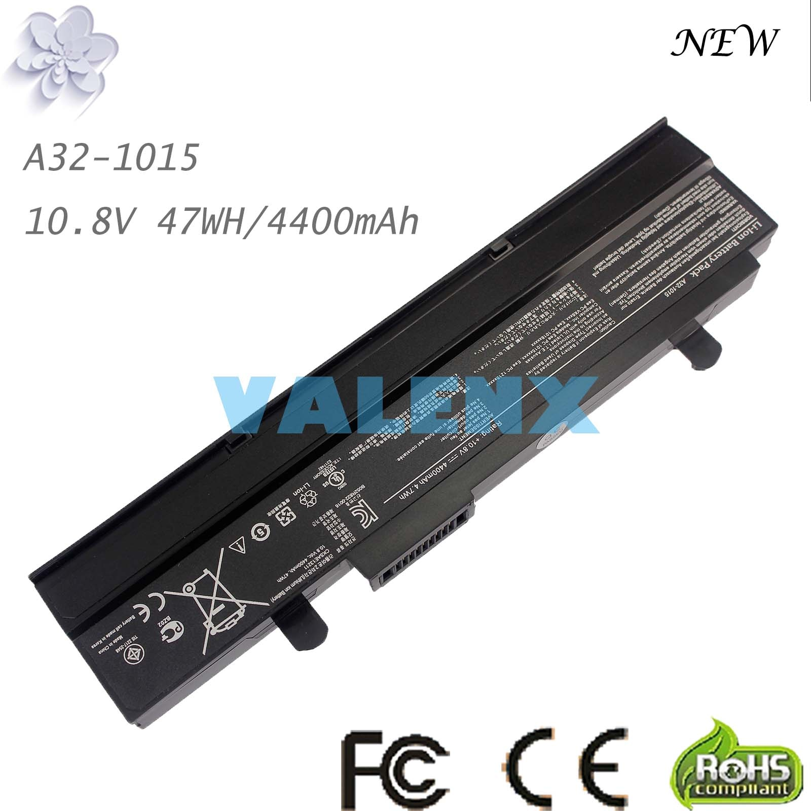 Batería del ordenador portátil para Asus Eee PC EPC 1215 PC 1215B 1215N 1015b 1015 1015bx 1015x1015 p A31-1015 A32-1015 AL31-1015