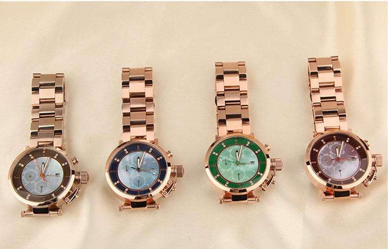 MELISSA New Designer Women Neutral Watches Big Size Vogue Girls Calendar Wrist watch Steel Bracelet Relogios Montre Femme FS8214