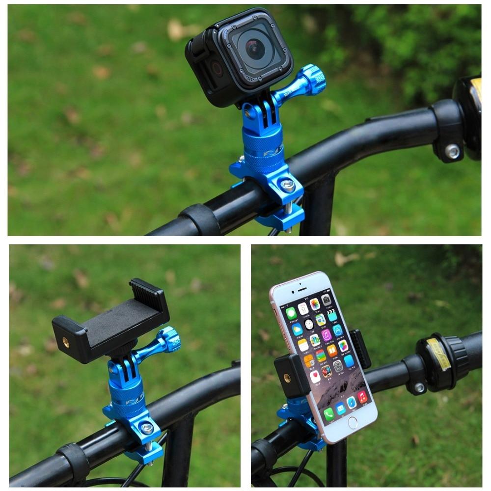 Adapter Mount For GoPro HERO9 Black /8 Black / Max / HERO7 6 5 4 360 Degree Rotation Bike Aluminum Handlebar Mount + Screw