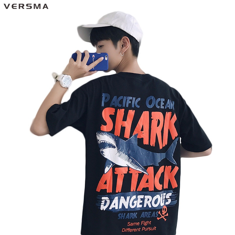 VERSMA 2017 High Street Hip Hop patrón impreso camiseta suelta hombres mujeres verano Harajuku BF Vintage Retro Graffiti camiseta hombres
