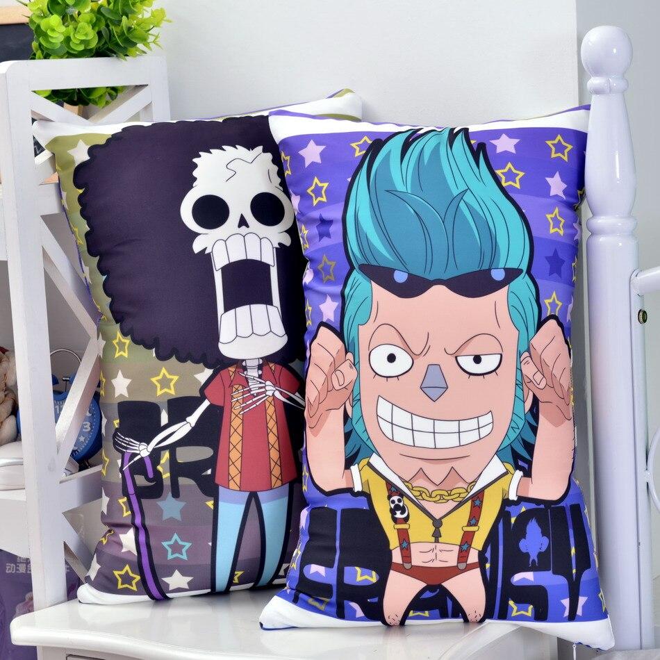 El Anime japonés Brook de One Piece Franky abrazando cuerpo almohada de dibujos animados lindo almohadas 35x5 5/45x70cm 2WAY tejido de felpa