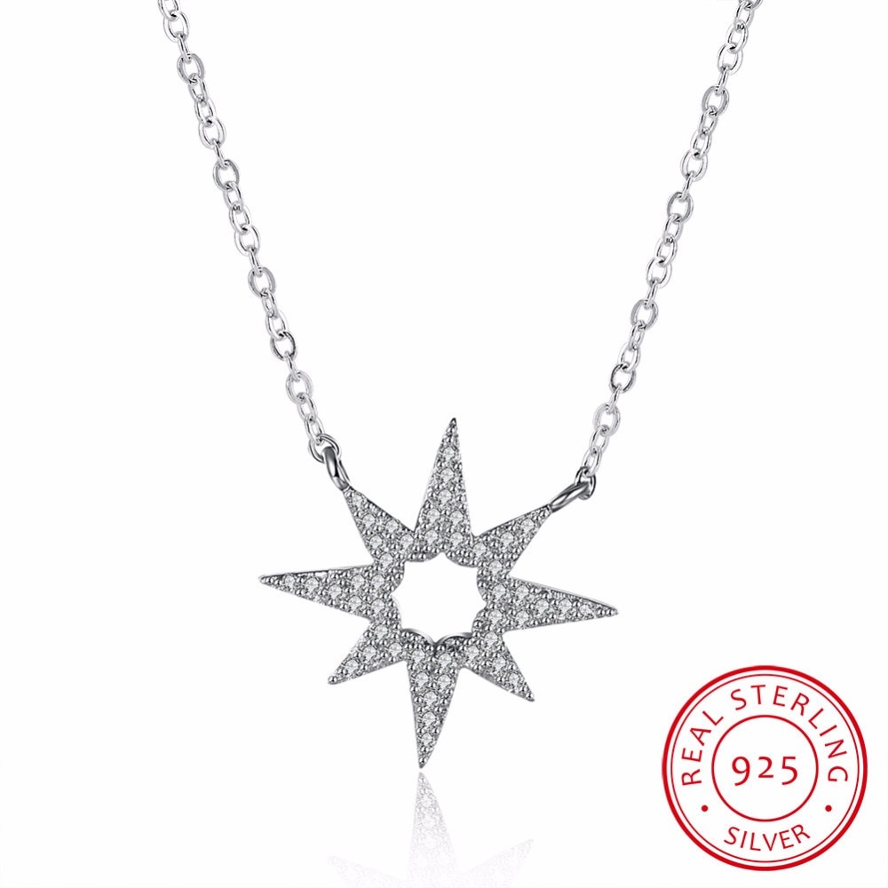 Collar de plata de ley 925 con forma redonda de corazón de la marca, colgante Cz para mujer, joyería de fiesta, collar de flores sin corazón
