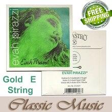 Livraison gratuite, chaîne de violon Evah Pirazzi, chaîne E en or (313321), extrémité à billes fabriquée en allemagne 4/4