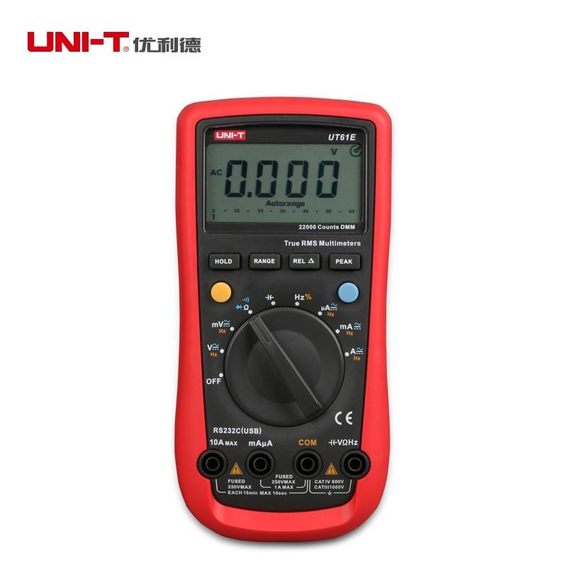 UNI-T UT61E صحيح rms الرقمية المتعدد/مولتيمترو + الإلكترونية والكهربائية أداة إصلاح مجموعة