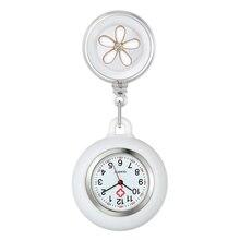 LANCARDO Nurse Watch For Women Unique Design Clip-On Pendant Watch Doctor Digital Dial Silicone Case Stretchable Flower Clock