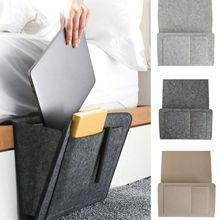 Sac de rangement de chevet de lit en feutre   Sac de bureau pour lit, sac de suspension pour canapé télécommande TV, caddie de rangement pour canapé, pochettes pour porte-lit