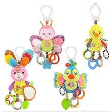 Bébé Animal hochets jouet enfants doux papillon/oiseau/peluche jouet dentition avec sons bébé poussette/lit/berceau jouets suspendus CX890977