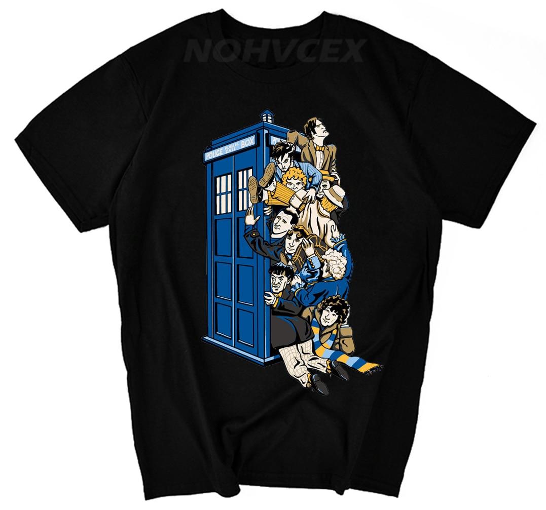 Nueva Camiseta de algodón Modal con cuello redondo con estampado de DR who, camiseta de manga corta para hombre