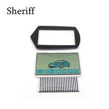 Shérif A91 câble flexible A91 LCD   Écran lcd + porte-clés, étui en verre pour Starline A91 LCD télécommande porte-clés rayures zèbre