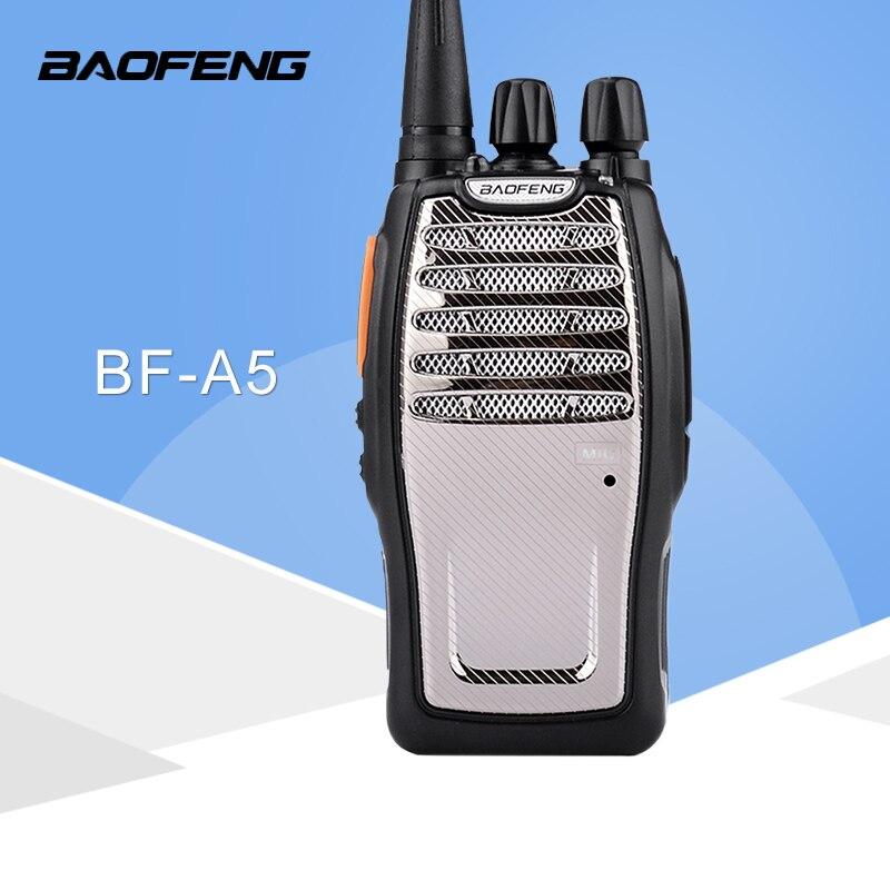 (1 pçs) baofeng uhf walkie talkie BF-A5 16ch vox + scrambler função frete grátis rádio em dois sentidos