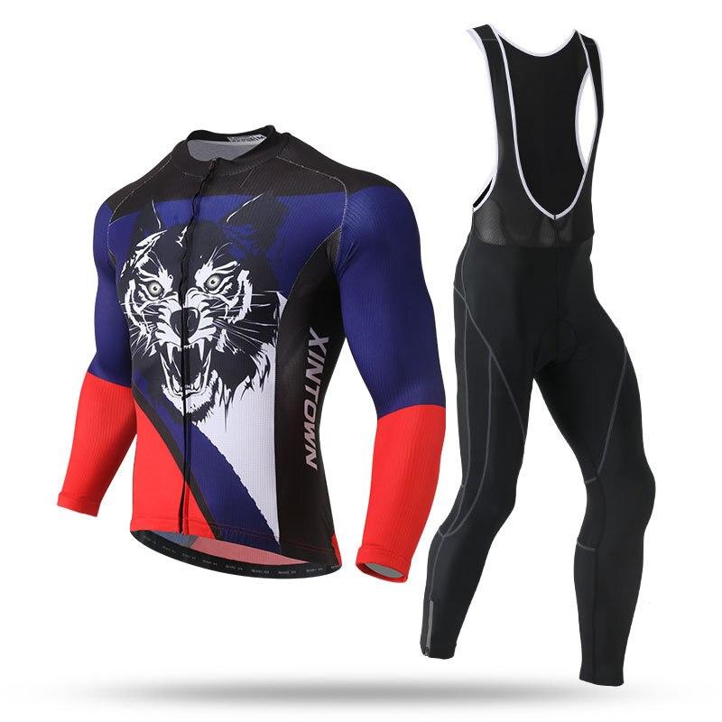 XINTOWN-Conjunto de Ropa térmica de lana para Ciclismo profesional, Conjunto de Jersey...