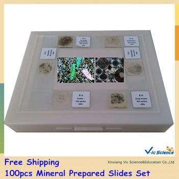 100pcs Mineral Prepared Slides Set