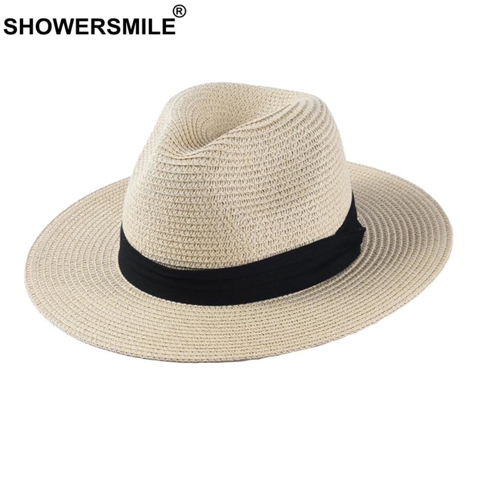 Chapéu do panamá chapéu de palha clássico chapéu de jazz feminino bege ao ar livre casual havaiano fita de proteção solar chapéu de verão unisex