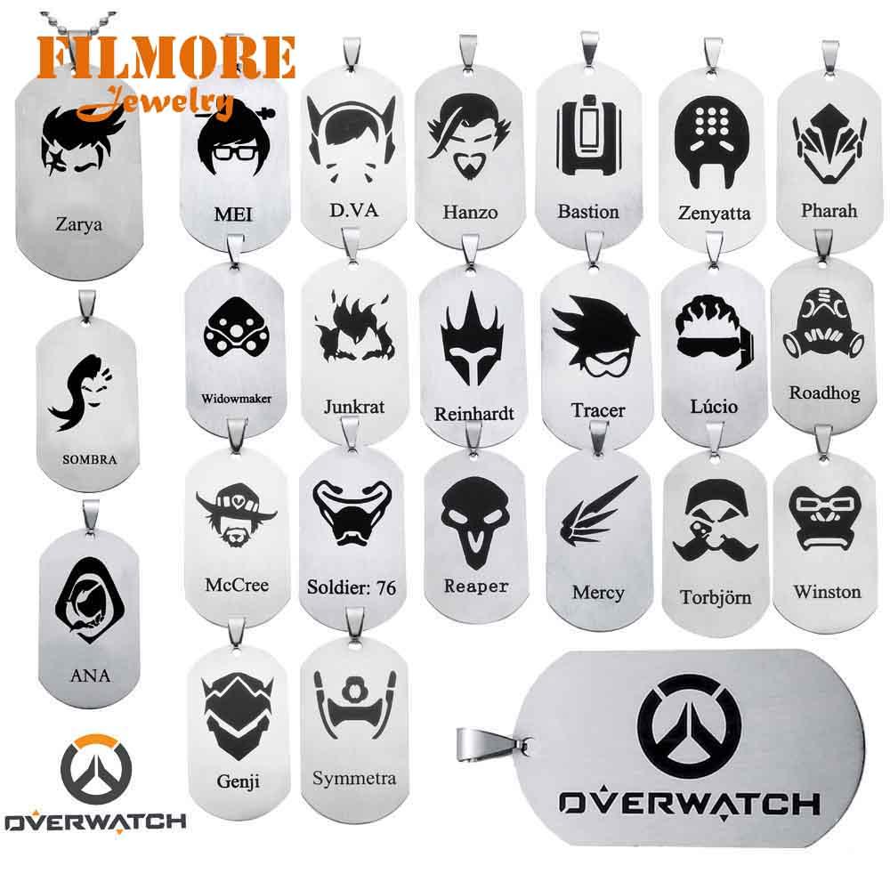 24 Стили, популярные игровые Overwatch украшения, подвески, ожерелье, Tracer Reaper OW Hero, брелки для развлечения, брелок с логотипом, колье с держателем
