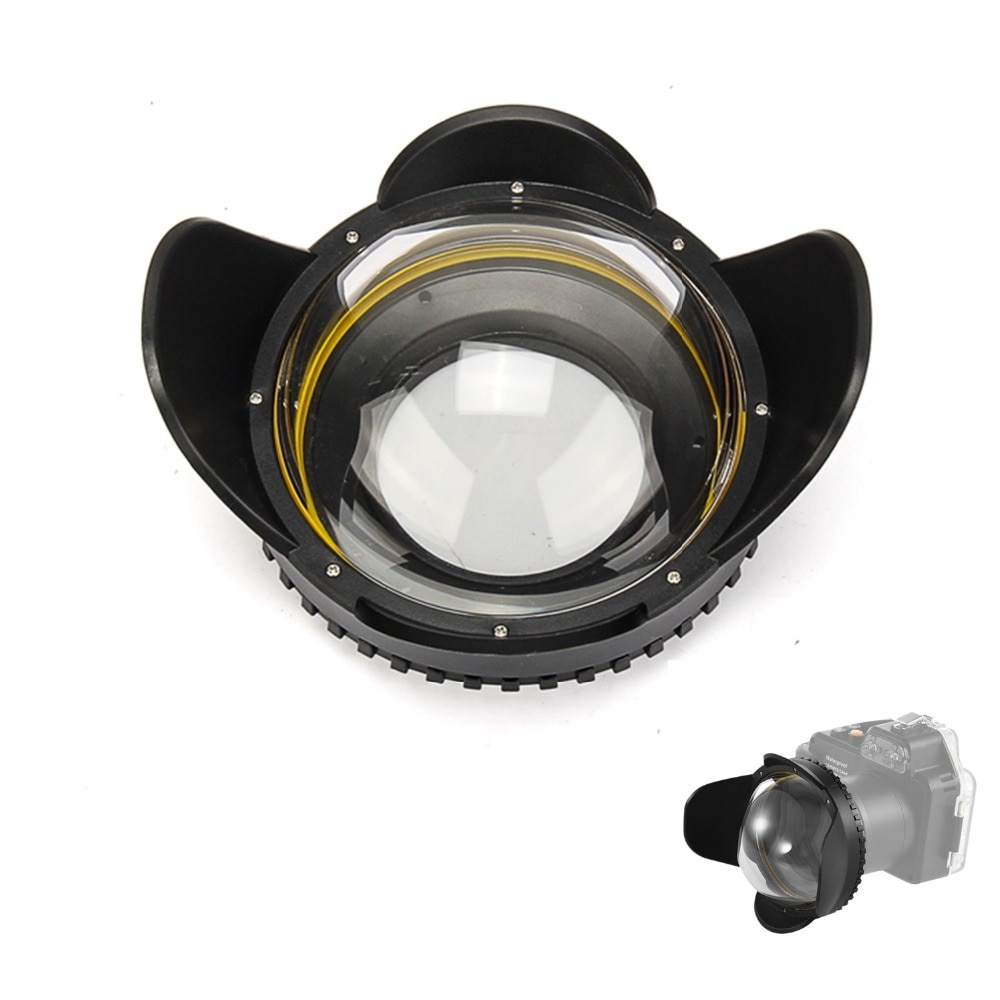 Meikon bajo el agua Cámara 200mm Fisheye gran angular lente Domo Puerto (67mm adaptador redondo)