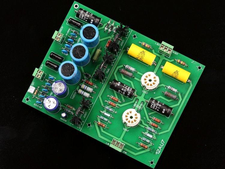 ZEROZONE Assembeld Hifi 12AU7 Tube Stereo preamplifier board / DIY preamp board L8-27