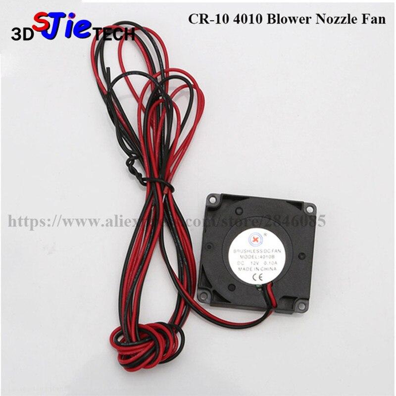 3D impresora Creality CR-10 Fan 4010 ventilador 40MM 40x40x10MM 12V enfriador de corriente continua pequeño ventilador de refrigeración para 3D pieza de impresora Creality CR-10